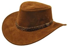 Geelong Leather Hat in Brown