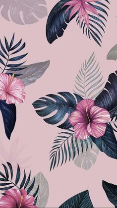 Lock screen floral wallpaper backgrounds Ideas for 2019 Wallpaper Flower, Tropical Wallpaper, Iphone Background Wallpaper, Locked Wallpaper, Aesthetic Iphone Wallpaper, Flower Backgrounds, Pattern Wallpaper, Samsung Lock Screen Wallpaper, Pink Wallpaper Ios