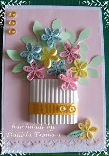 Quilling Birthday Cards, Paper Quilling Cards, Origami And Quilling, Paper Quilling Designs, Quilling Craft, Quilling Patterns, Quilling Ideas, Handmade Greetings, Greeting Cards Handmade