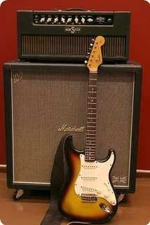 1966 Fender Stratocaster Sunburst. Large headstock model.
