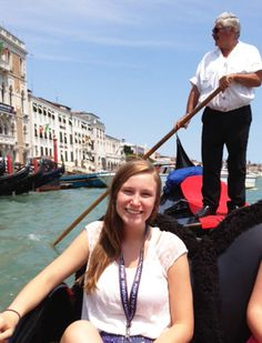 Jade Taylor, Cushing, spent 19 days with the People to People Ambassador Program in Europe. One of her adventures was taking a gondola ride in Venice, Italy.