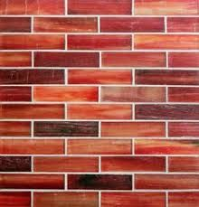 """Image result for Lunada Bay Tozen 1/2"""" x 4"""" Brick Mosaic in Marrakech Red with Natural finish"""