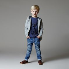 Angel & Rocket Fall 2014 Little Boys Fleece Jacket with Jeans