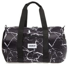 Women's Vooray Roadie Small Duffel Bag (€33) ❤ liked on Polyvore featuring bags, luggage and black marble