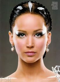 The Hunger Games Jennifer Lawrence Makeup Tutorial | Catching Fire Makeup Tutorial