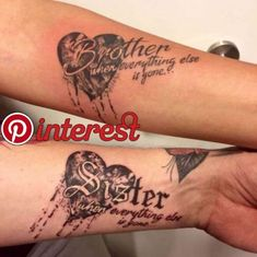 Best Brother Tattoos Matching Symbols, Memorial Quotes & Designs for Sisters Dope Tattoos, Girly Tattoos, Trendy Tattoos, Body Art Tattoos, Sleeve Tattoos, Heart Tattoos, Disney Tattoos, Tatoos, Beste Freundin Tattoo