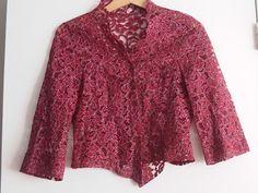 Retro/vintage kanten blouse - Mt 38 - Prijs: € 5,00