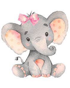 Bebé niña elefante vivero imprimir JPEG 8 por digital - Baby Girl Elephant Nursery Print JPEG 8 by 10 / Digital File Baby Elephant Drawing, Baby Girl Elephant, Elephant Baby Showers, Baby Animal Drawings, Baby Elephant Images, Elephant Drawings, Baby Girl Drawing, Baby Boy, Elephant Themed Nursery