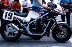 1984 Honda VF750F Interceptor at Daytona. None other than Fast Freddy's, enough said...