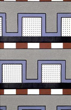 Nathalie Du Pasquier, 1984. Nathalie Du Pasquier, Paint Designs, Pattern Paper, Pattern Wallpaper, Textures Patterns, Memphis, Graphic Prints, Design Art, Graphics