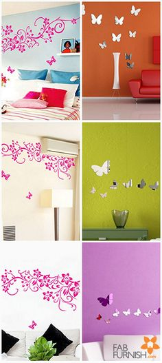 Bring some #glamour to your #home! Inspire your #décor and play around with these #WallStickers in any style you want.