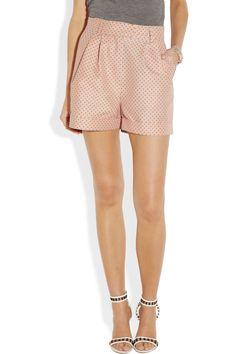 Paul & Joe|Kilanga polka dot-jacquard shorts|NET-A-PORTER.COM - if only i could afford these lovely shorts