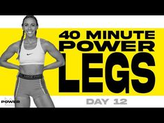 40 Minute Leg Power Workout | POWER Program - Day 12 - YouTube Leg And Ab Workout, Hiit Workout At Home, Workout Videos, At Home Workouts, Cardio, Hiit Program, Sit Up, Aerobics, Weight Training