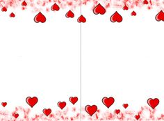 graphic regarding Valentine Borders Free Printable identify attractive valentine hearts body or border. valentine clip