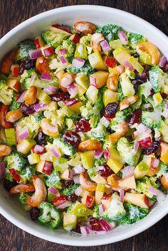 Broccoli, Cashew, Apple & Pear Salad
