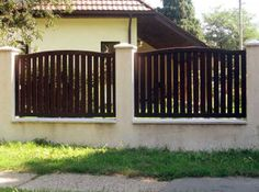 Model de gard din lemn - Mobina SRL Suceava Outdoor Decor, Design, Home Decor, Home, Wood, Decoration Home, Room Decor, Home Interior Design