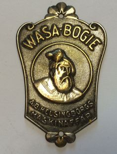 Original Prewar 1930s Bike Head Badge Steuerkopfschild ++ WASA BOGIE in Other | eBay
