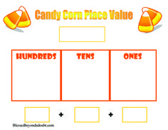 Free Candy Corn Place Value Worksheets #homeschool #math