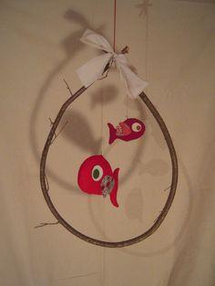 mobile deux poissons rouge