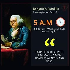 See how big guns do it...Benjamin Franklin's early morning routine.  #bloogle Follow Mohammad (bloogle01.com) for sales digital marketing ideas & motivation.  #startups #onlinemarketing #mlm #success #SEO #SMM #SEM #blog #blogger #multilevelmarketing #digitalmarketing #entrepreneur #B2B #entrepreneurship #Digitalinfluencer #wordporn #writersofig #tphonline #business #Marketing #goalsetting #homebasedbusiness #influencermarketing Wisdom Quotes, Quotes To Live By, Me Quotes, Motivational Quotes, Success Mantra, Success Quotes, Business Motivation, Business Quotes, Quotes Motivation