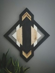 One of A Kind Wood Wall Art Reclaimed Wood Geometric
