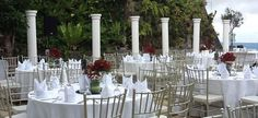 Villa Ibarra Tagaytay of Ibarra's Party Venues & Catering Services  [www.kasal.com] Garden Venue, Garden Weddings, Wedding Planning Guide, Tagaytay, Party Venues, Catering Services, Wedding Styles, Villa, Table Decorations