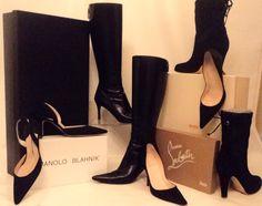 Black shoes Black boots I love Black!!
