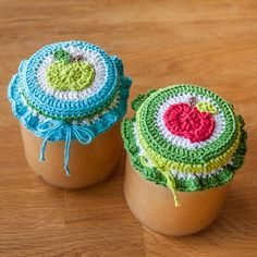 Ravelry: Apple jam lid covers pattern by Didde D
