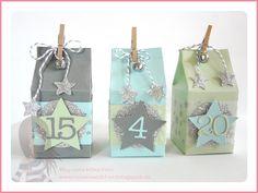 Stampin' Up! - Geschenkbox - Adventskalender - Mini-Milchkarton - Confetti - Weihnachtsminis - www.rosamaedchen.blogspot.de