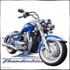Triumph Thunderbird LT - Undressed - http://www.redbubble.com/people/niglom/works/25017252-triumph-thunderbird-lt?asc=u