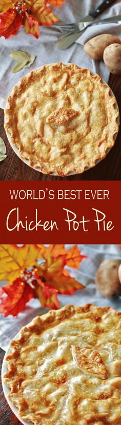 Best Ever Chicken Pot Pie potpiepin Turkey Recipes, Pie Recipes, Fall Recipes, Chicken Recipes, Cooking Recipes, Dinner Recipes, Chicken Meals, Entree Recipes, Party Recipes