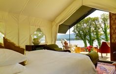 Luxury tent with a view - glamping at Dromquinna Manor.