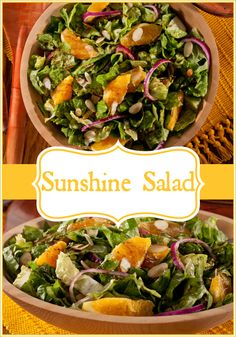 We want to add a ray of sunshine to your mealtime routine with this refreshing recipe for Sunshine Salad!