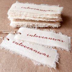 Étiquette Tag en toile coton personnalisé tissu accrocher