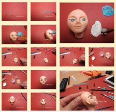 Sculpting with fondant #1: Sculpting a face - CakesDecor