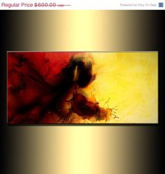 Abstract Painting Original Abstract painting by newwaveartgallery, $480.00