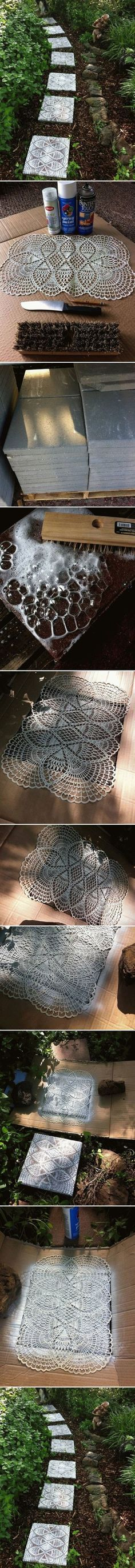 DIY Lace Like Stepping Stones                                                                                                                                                     More