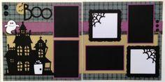 Fun Halloween layout with Artbooking cartridge. Scrapbookersrock.blogspot.com