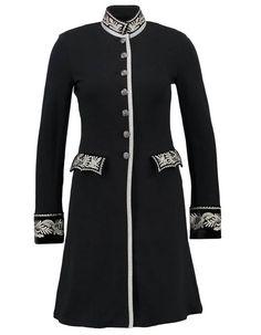 Manteau officier à boutons dorés   Vestes - Manteaux   Coats ... 36a6194c037