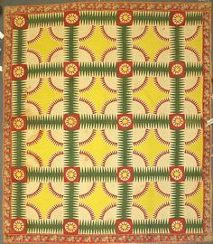Late 19th century Sunburst quilt. The colors are still so vibrant!