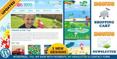 Kids Toys Shop WordPress by dtbaker Kids Toys Wordpress Shop is designed for children¡¯s activities or products. This wordpress theme would be ideal for an online shop #site:fitnessshop.website