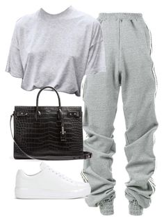 """Untitled #1930"" by deamntr ❤ liked on Polyvore featuring Y/Project, Prada and Yves Saint Laurent"