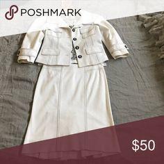 White Bebe skirt suit!! White Bebe skirt suit!! bebe Dresses Mini