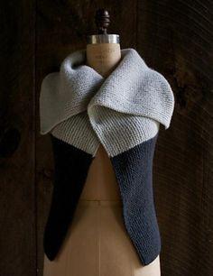 Ravelry: Sideways Garter Vest pattern by Purl Soho