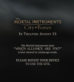 The Mortal Instruments | Alliance Quiz | Sony Pictures