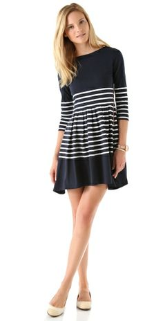 Striped Long Sleeve Dress by M.A.M.