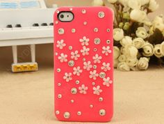 iphone case pink case 3D flower phone4 case iphone4s by dnnayding, $17.99