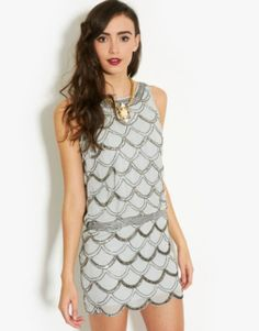 Frock & Frill Scalloped Bead Dress - BANK Fashion