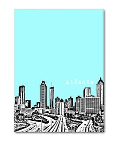 Atlanta skyline painting- home sweet home! Visit Atlanta, Atlanta Art, Atlanta Skyline, Atl Georgia, Georgia On My Mind, Skyline Painting, Skyline Art, Southern Comfort, Cool Cards