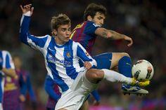 Thiago Alcântara (Barcelona FC) and Antoine Griezmann (Real Sociedad)